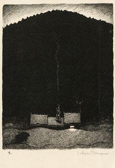 """Troll"" series by John Bauer (1915). Lithograph 1"