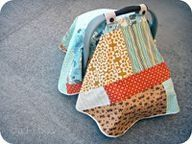 DIY Carseat Blanket Cover and other baby sewing crafts.