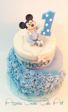 Baby mickey mouse  cake - Cake by Azzurra Cuomo Cake Art