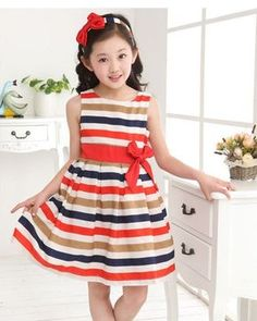 Girls Rainbow Skirt Princess Skirt Stripe Sleeveless Vest Bow Dress Salable - Go Shop Clothes China Wholesale Clothing, Wholesale Baby Clothes, Wholesale Boutique Clothing, Cheap Girls Clothes, Kids Clothes Sale, Dress With Bow, The Dress, Baby Dress, Casual Summer Dresses