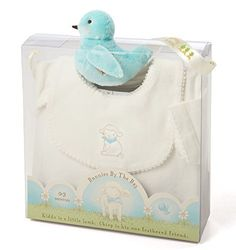 "Soft white romper features friendly lamb embroidery;Easy on/off dribble bib;Cute bird rattle in aqua, with rosy cheeks;Machine wash cold, tumble dry low heat;Size: 0-3 months   	 		 			 				 					Famous Words of Inspiration...""Affection is responsible for nine-tenths of whatever solid and... more details available at https://perfect-gifts.bestselleroutlets.com/gifts-for-babies/toys-games-gifts-for-babies/product-review-for-bunnies-by-the-bay-kiddo-romper-gift-set-by-bun"