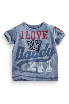 fbc944be38ec1 Buy Blue Daddy T-Shirt (3mths-6yrs) from the Next UK online
