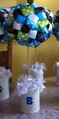 Brian's Baptism Centerpiece Made by my Sis Emilia.