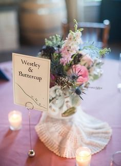 Tables names, famous couples, The Princess Bride // Chelsa Yoder Photography