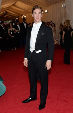 Benedict Cumberbatch ('Sherlock,' 'The Hobbit: The Desolation of Smaug,' 'Star Trek Into Darkness') appears at the Metropolitan Museum of Art's 2014 Costume Institute Benefit gala, celebrating 'Charles James: Beyond Fashion,' in New York on May 5, 2014.