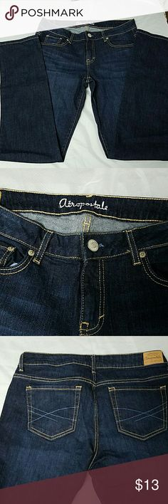 Aeropostale Skinny Jeans Aeropostale Skinny Jeans size 10, regular length, dark blue wash, excellent condition except the small tear on the inside of the waistband as shown in the last picture. Please message me if you have any questions! Aeropostale Jeans Skinny