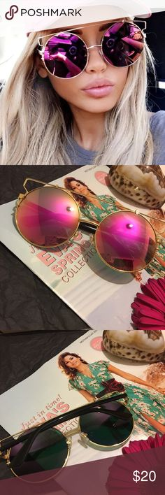 NEW! Oversized• Mirror• Aviator• Sunglasses Color looks purplish or pinkish (see 2-3rd picture)                                                             Unbranded. Not accepting OFFERS on INDIVIDUAL ITEMS ❌ No trades ❌.                                                                                         If u want to create your own bundle just let me know so I can give you a price BEFORE purchase has been made Accessories Sunglasses