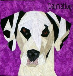 Dalmation paper pieced pattern at Silver Linings Originals