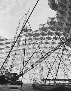 Union Tank Car Dome, Baton Rouge, 1958 designed by architect/engineer TC Howard of Synergetics, Inc, engineer Dr. ME Uyanik .