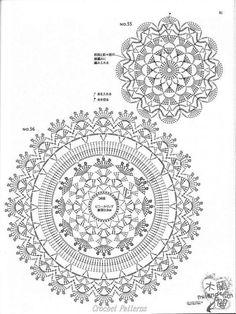 ☕ ☕ Porta -Copos em Crochê de Flores - / ☕ ☕ Beverage Coasters at Crochet of Flowers - ISSUU - Crochet motif by vlinderieke Crochet Patterns and A Great Love of Doilies. This Pin was discovered by oms ru / Фото - Still like motif - Irina-mai Filet Crochet, Mandala Au Crochet, Beau Crochet, Crochet Doily Diagram, Crochet Motifs, Crochet Circles, Crochet Round, Crochet Squares, Crochet Chart