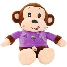 30  Cute Fruit Series Grapes Monkey Plush Toy Soft Stuffed Animal Doll Wedding Xmas Christmas Birthday Valentine Gift * Click image to review more details.