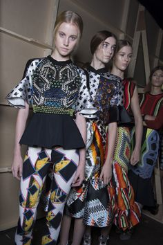 Check Peter Pilotto's SS13 backstage snaps as seen in the Topshop Showspace. #TOPSHOP #LFW #SS13 #PETERPILOTTO