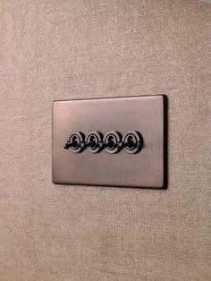Interrupteur bouton poussoir / à levier / quadruple / double - PENTHOUSE - Wandsworth