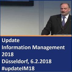 """""""Update Information Management 2018"""" Jahresauftaktseminar mit Dr. Ulrich Kampffmeyer und Erwin Rödler, Revidata, am 06.02.2018 in Düsseldorf zu #Trends #DigiBiz #InfoManagement #ECM #EIM #IIM #updateIM18 #InfoGov #Digitalisierung #KI #Audit #Compliance #Analytics  https://www.xing-events.com/1883747-677cb856.html"""