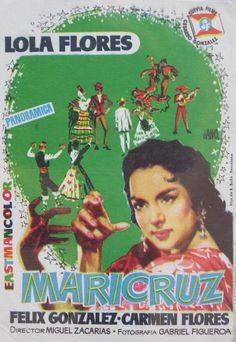 Folleto del film . MARICRUZ. LOLA FLORES.1957