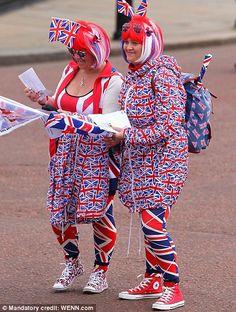 Having fun celebrating the Queen