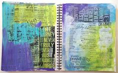talking to myself journal  from A Colorful Journey by Carolyn