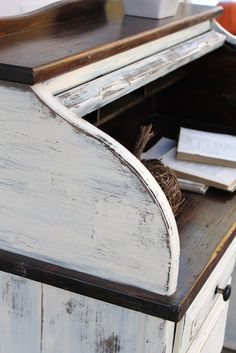 {Shabby Rolltop Desk} — Vintage Farm Furniture