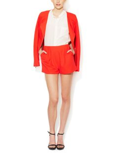 Pique High-Rise Shorts by Elorie at Gilt