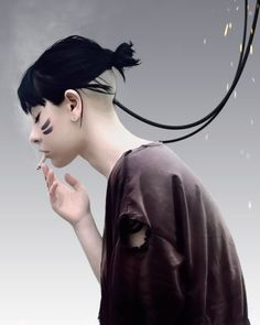Digital painting girls by Edgar Gonzalez #digital #illustration