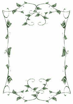 Lit. Template - Leafy Vines by rockgem on deviantART