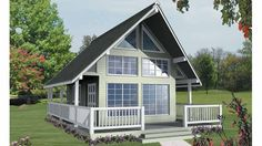 Cottage House Plan with 582 Square Feet and 1 Bedrooms(s) from Dream Home Source | House Plan Code DHSW70417