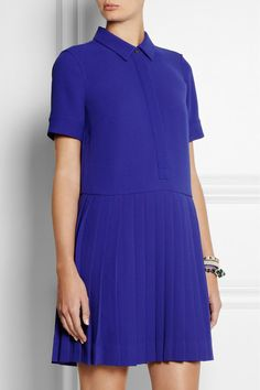 J.Crew- Collection pleated crepe shirt dress $198