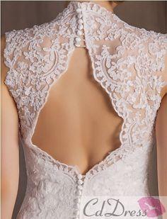 gorgeous back lace wedding dress