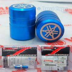 Yamaha Motorbike Tire Dust Caps Blue [Y4] Yamaha Motorbike Tire Dust Caps Blue [90338-W1015-BU] - $6.99 : DustCaps.Asia, Tire valve caps