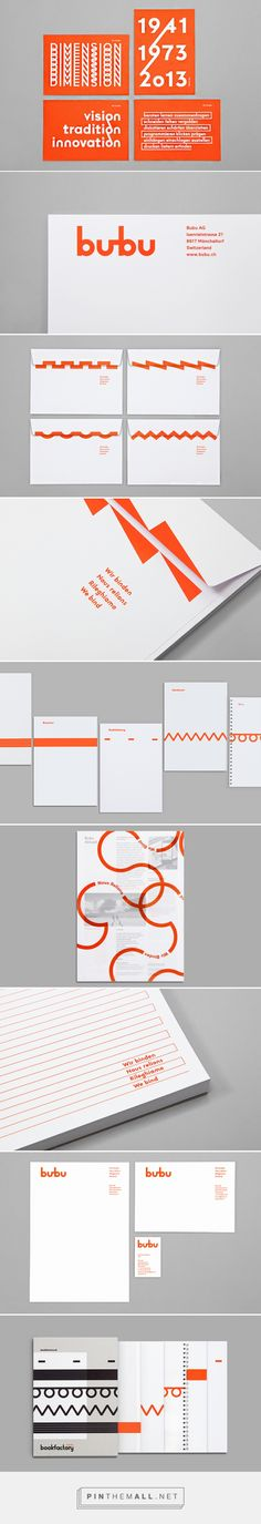 It's Nice That | Bob Design creates simple and impactful identity for Swiss bookbinding company Bubu - created via https://pinthemall.net