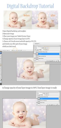 Photoshop digital background tutorial