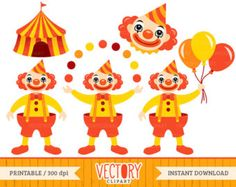 A Day at the Circus Clipart by cocoamint on Etsy