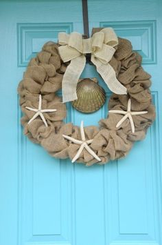 Christmas Wreath with Beach Theme
