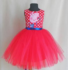 This item is unavailable Pepper Pig Party Ideas, Little Dresses, Nice Dresses, Peppa Pig Dress, Cumple Peppa Pig, Rag Skirt, Pig Birthday, Girl Dress Patterns, Childrens Party