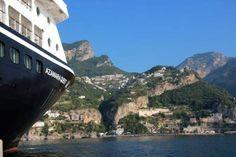 Azamara Quest cruise ship off Amalfi Coast