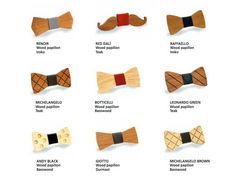 'wood papillon' by vinyluse is a collection handmade wooden bow ties, crafted in italy from recycled wooden abandoned floors and furniture. Recycled Furniture, Recycled Wood, Green Fashion, Man Fashion, Wooden Bow Tie, Quirky Gifts, Wooden Art, Furniture Upholstery, Brown Wood