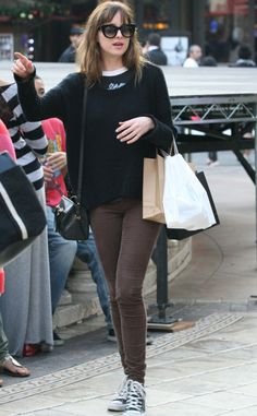 Dakota Johnson Shows Off Brunette \'Do Three Weeks Before Fifty Shades of Grey Starts Shooting | E! Online Mobile