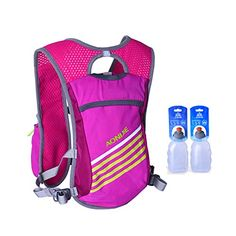 AFFE Outdoor Sport 55L Running Bag Cycling Backpack Camping Backpack With 2pcs 250ML Bottles  GreyWater bottles *** Check out this great product.