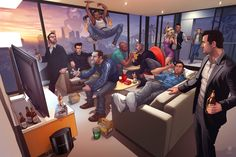 All of the Grand Theft Auto legends in one picture.