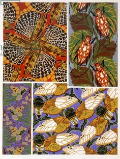 Design with insect motif, 1930's by E.A. Seguy / The Stapleton Collection