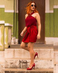 Look vermelho monocromático ! @blog_alamode por Thaís Oliveira