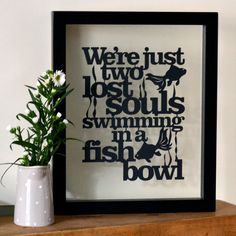 Framed 'Wish You Were Here' Papercut by KyleighsPapercuts on Etsy