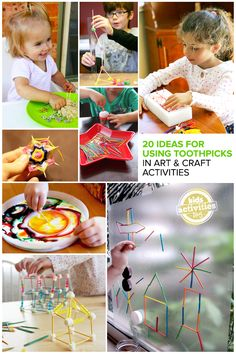 20 Great Ideas for Using Toothpicks in Art and Craft Activities // mollymoocrafts.com