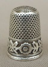 старинный французский цветы группы серебро наперсток