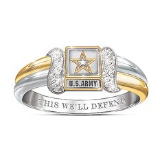 U.S. Army Women's Diamond Embrace Ring