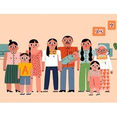 Familia mexicana. Dibujete de la animación de Nocturnal para Younique Foundation, que da apoyo a las mujeres que han sufrido abusos sexuales ✊ #illustration #illustrator #drawing #support #love #lovely #Mexico #family #instalike #instamood #instagood #instadaily #instafollow #picoftheday #art #artwork #artistsoninstagram #grandma #child #baby #dad #mum #uncle #sister #brother #cousin #home #happy #thankyou