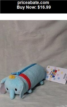 """Collectibles: Disney Dumbo Tsum Tsum Plush Pencil Case 7"""" Long  New with tags attached - BUY IT NOW ONLY $16.99"""