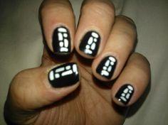 Como todas las anteriores fotos, las uñas son las mías, pero la ejecución artística es de Vanessa Hernandez