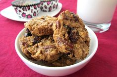 Healthy Oatmeal Breakfast Cookies - Go Dairy Free