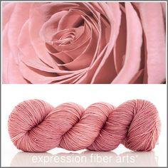 Expression Fiber Arts Yarn - POWDER ROSE 'RESILIENT' SUPERWASH MERINO SOCK, $24.00 (http://www.expressionfiberarts.com/products/powder-rose-resilient-superwash-merino-sock.html)